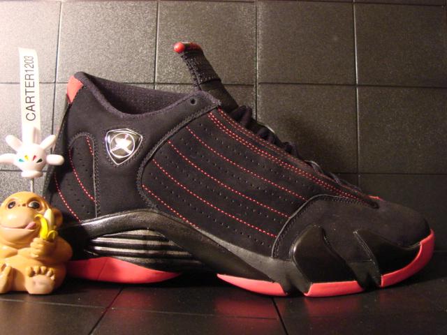 Air Jordan Retro 14 Countdown Pack Look-See Sample Black True Red 484f96500aab