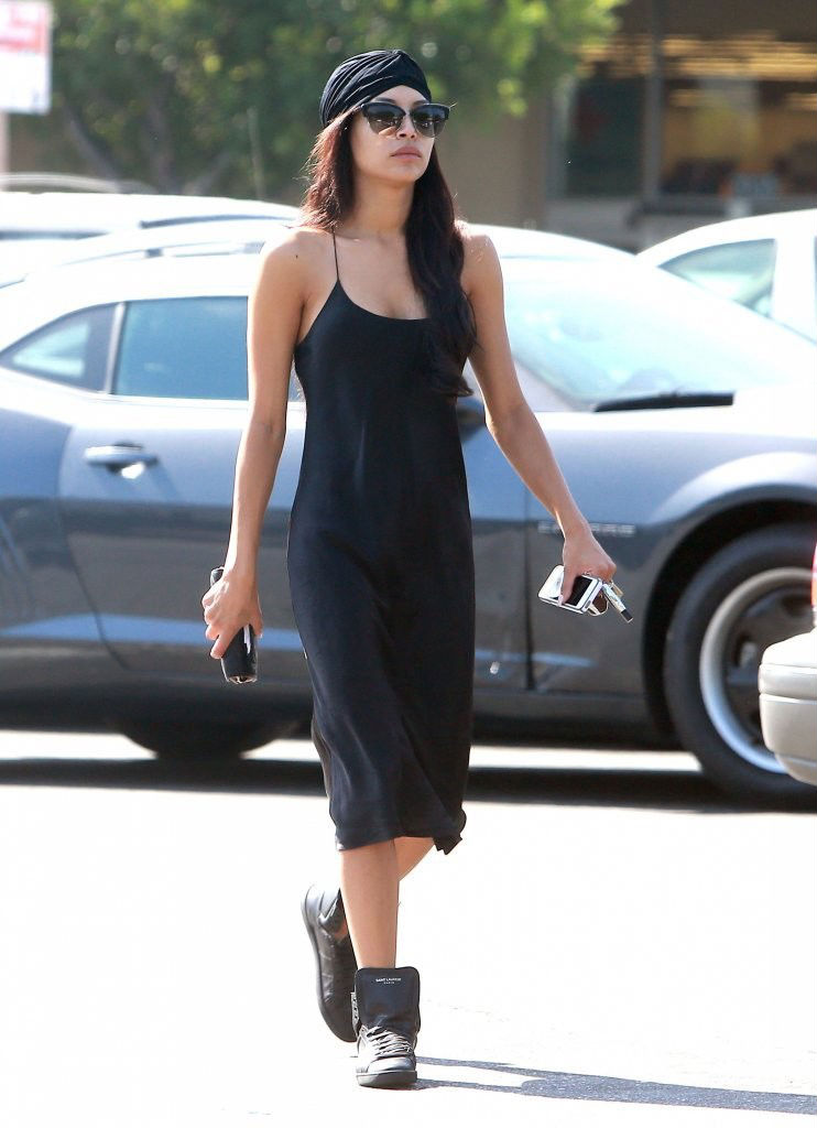 Naya Rivera wearing Saint Laurent High-Top Sneakers