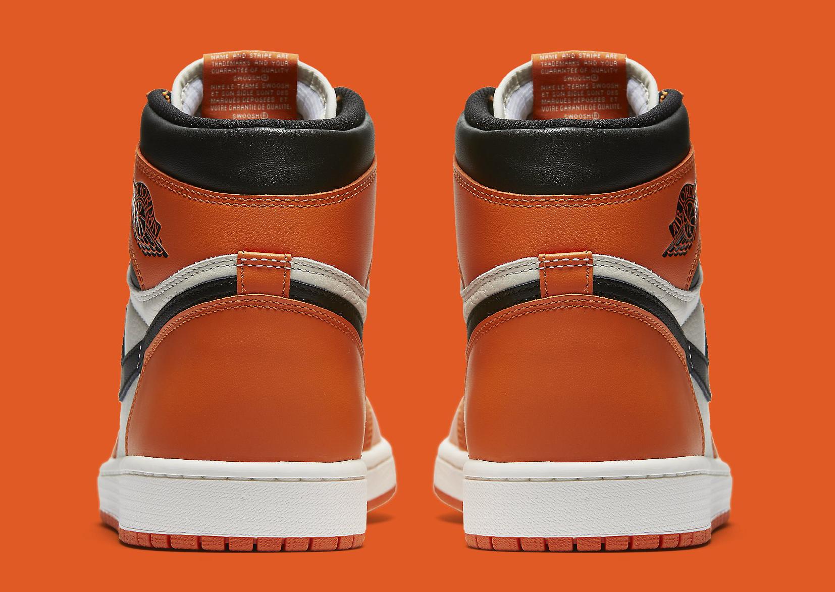 Air Jordan 1 Shattered Backboard Away 555088-113 Heel