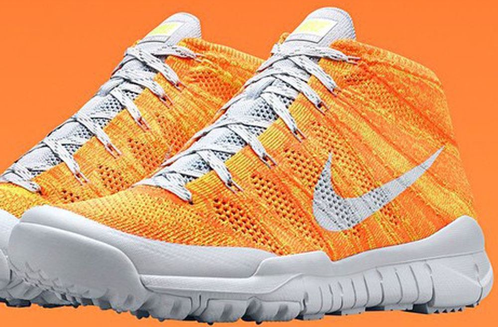 Nike Flyknit Trainer Chukka SFB Vibrant Orange/White
