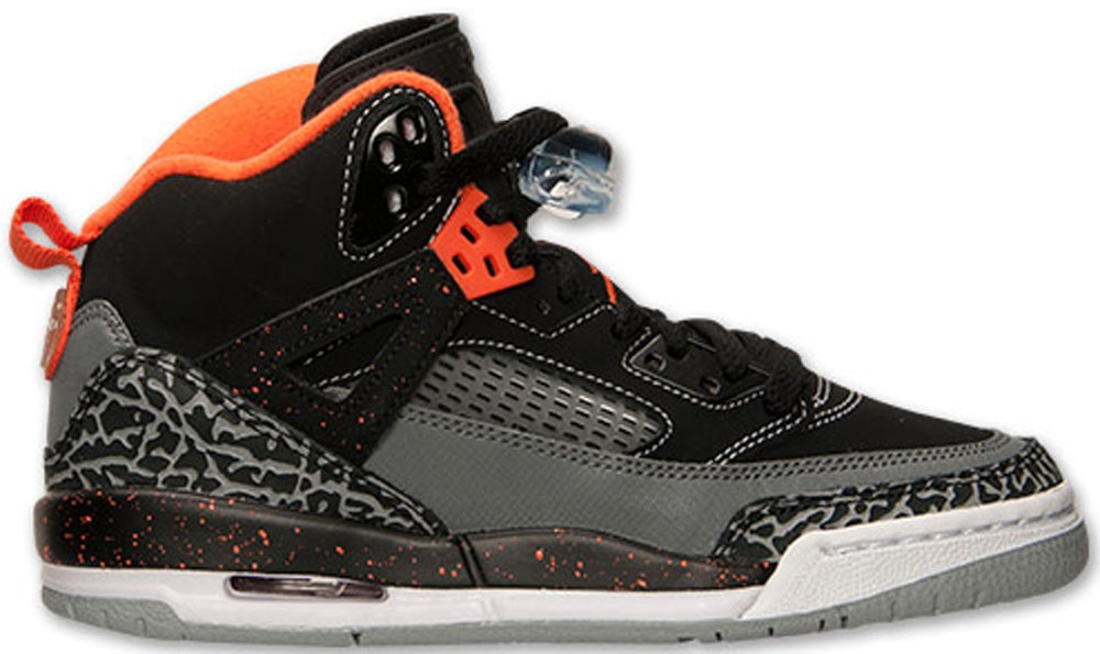 Jordan Spiz'ike GS Black/Electro Orange-Cool Grey-Wolf Grey