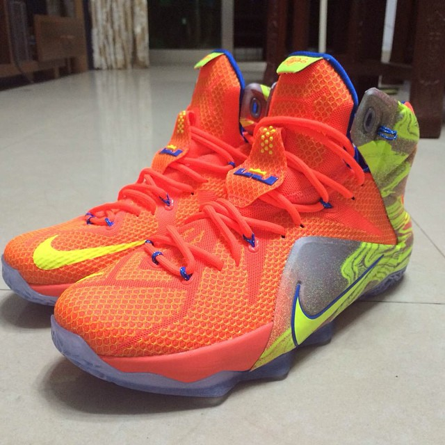 new concept 0d182 8a24f Nike LeBron XII 12 Orange Silver-Yellow (1)