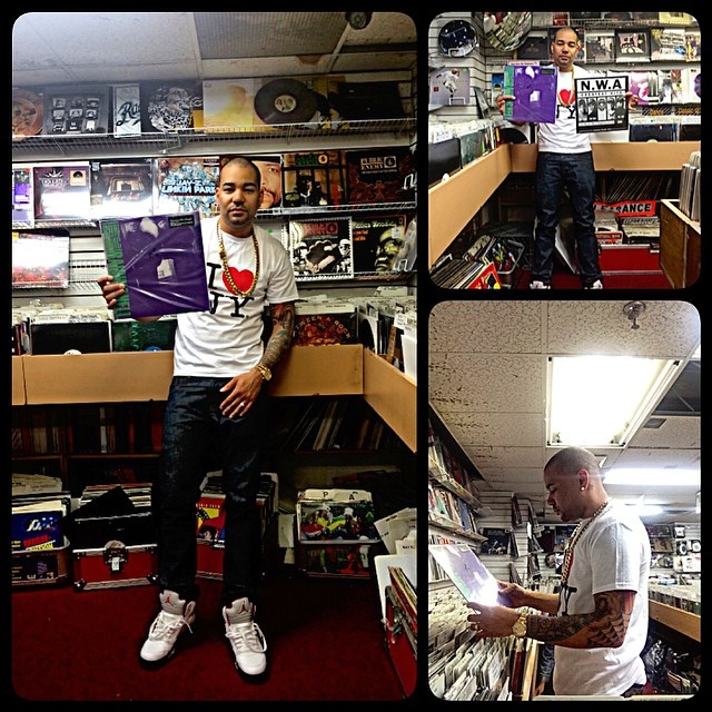 DJ Envy wearing Air Jordan V 5 Fire Red