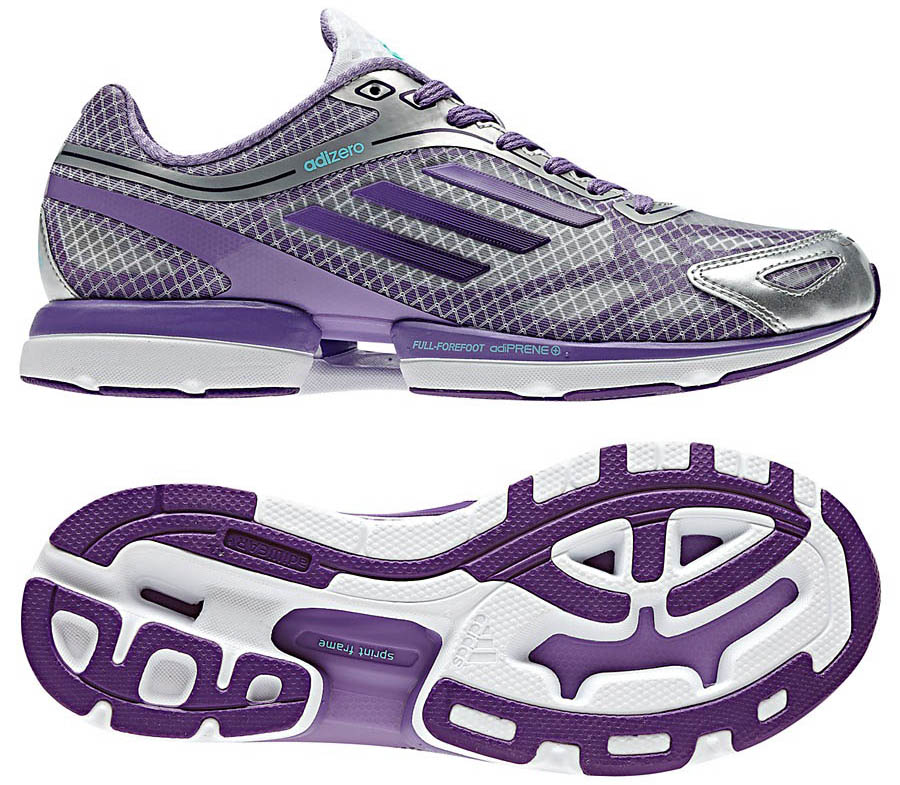 adidas adiZero Rush Running Shoes Shift Grey Power Purple G48877