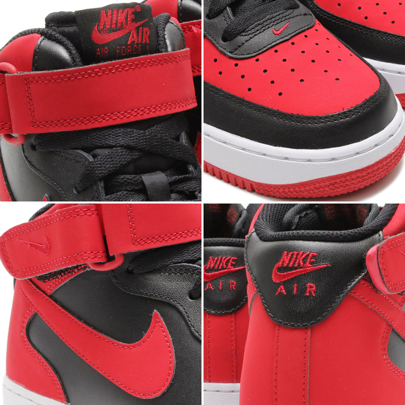 air force 1 mid '07 black gym red white