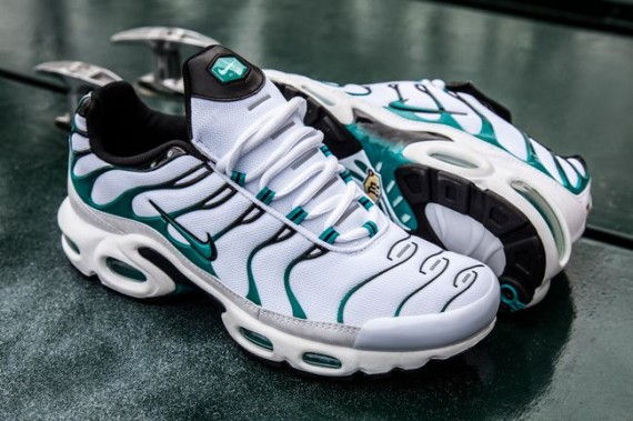 half off ce938 7beb6 ... The Turbo Green Nike Air Max Plus is now available at select Foot  Locker locations overseas ...