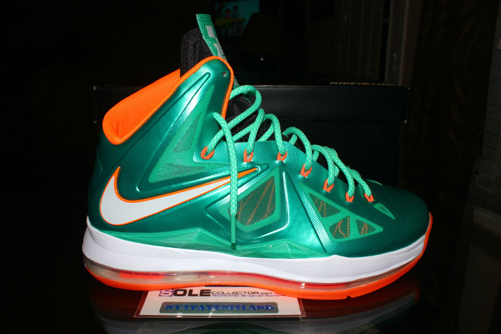 Nike LeBron X iD - Miami Dolphins by nystatenisland | Sole Collector