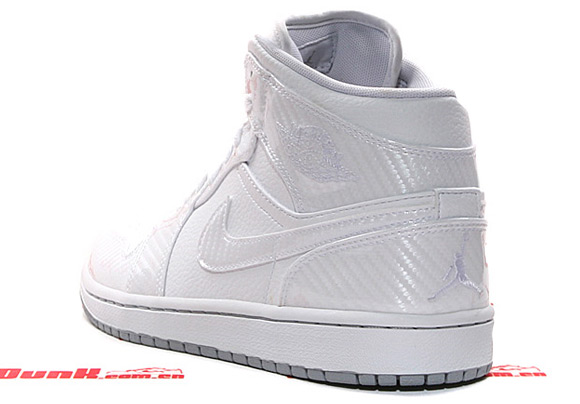 Air Jordan Retro 1 Phat Mid - White Carbon Fiber  c436d77146