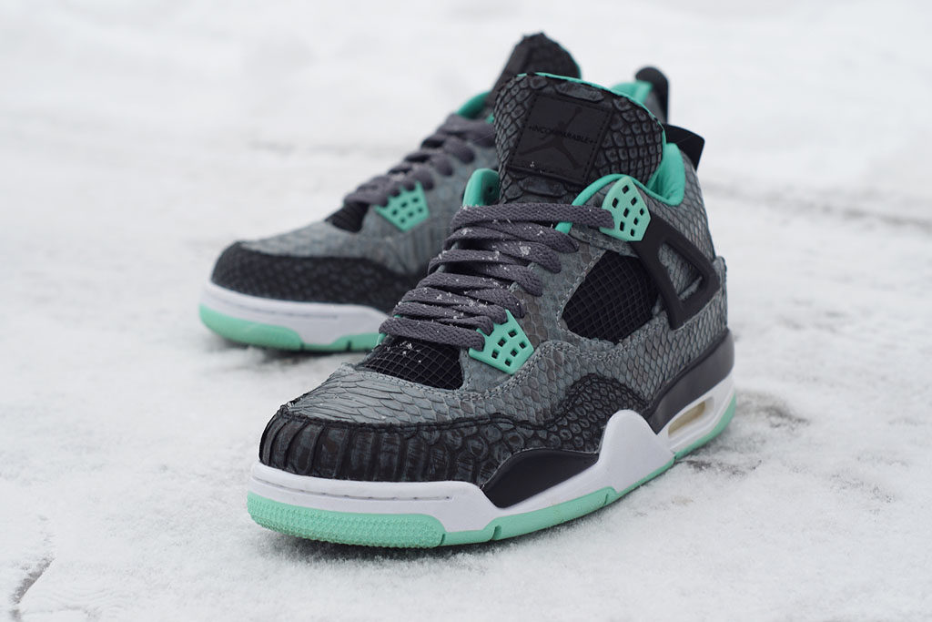 Air Jordan 4 'Python Green Glow' by JBF Customs (2)