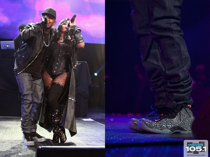 Kendrick Lamar Wearing 'Safari' Nike Air Foamposite One (4)