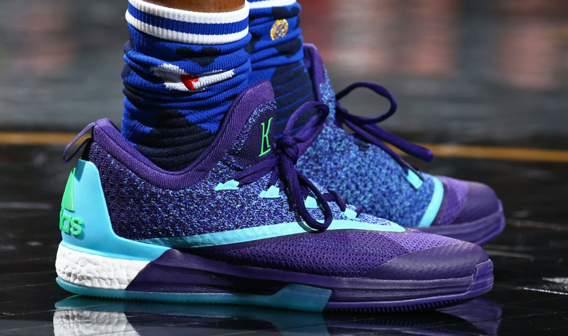 Kyle Lowry Wearing the 'Aurora Borealis' adidas Crazylight Boost 2.5 (2)
