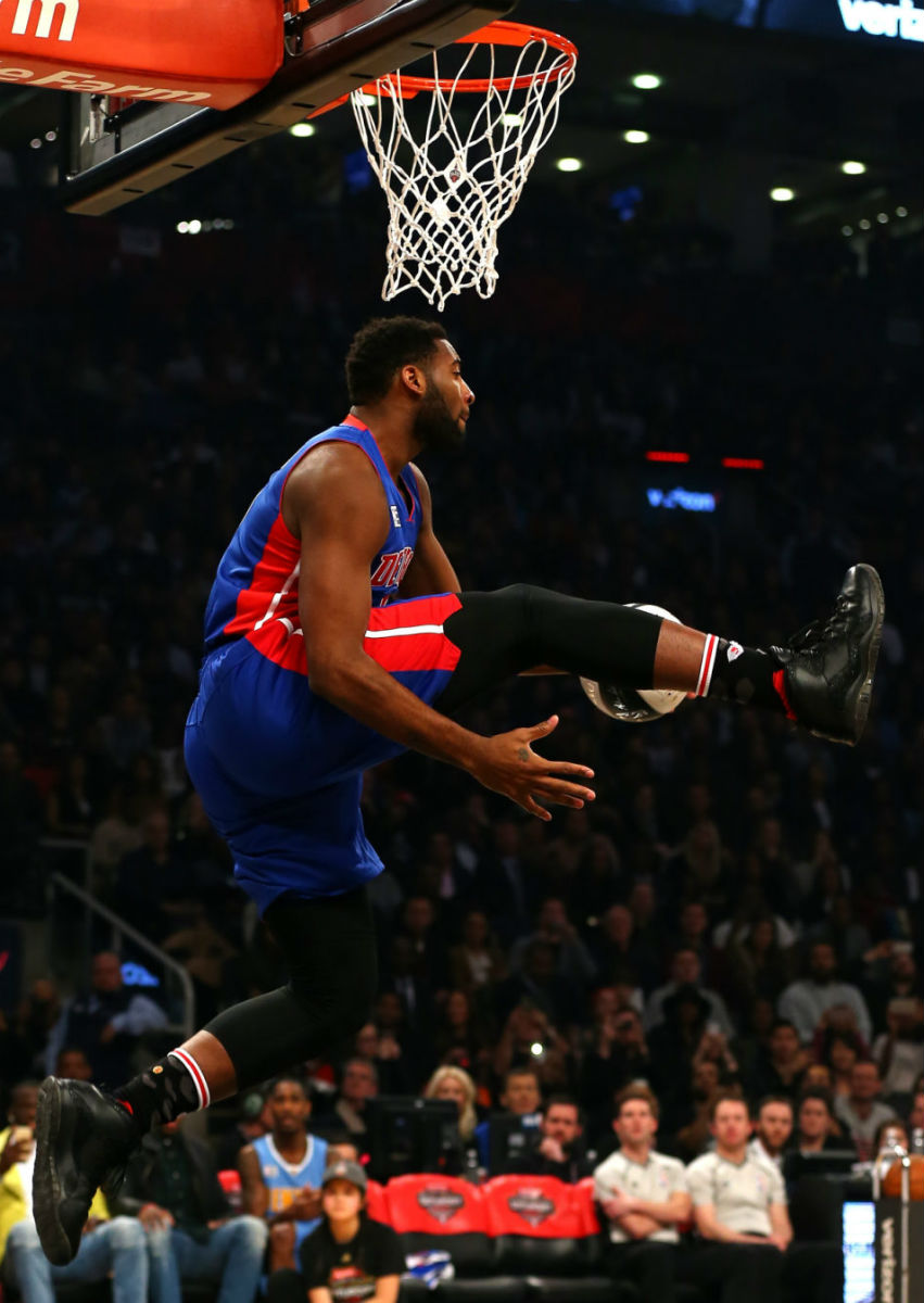 Andre Drummond Wearing the Black 'OVO' Air Jordan 10 (2)