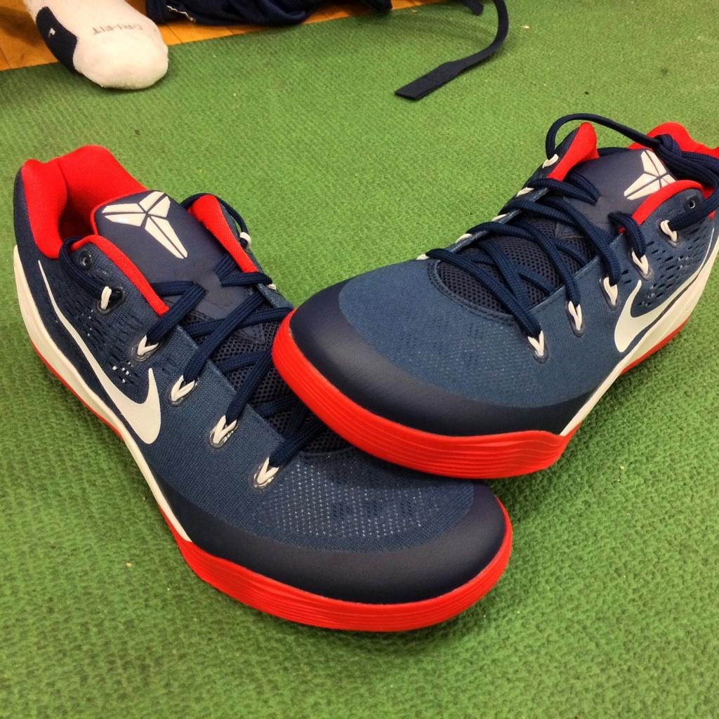 8997e4da5fc DeMar DeRozan wearing Nike Kobe IX 9 EM USA Away