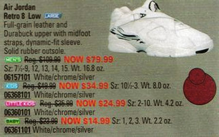 Air Jordan 8 Low in Eastbay Catalog 2003