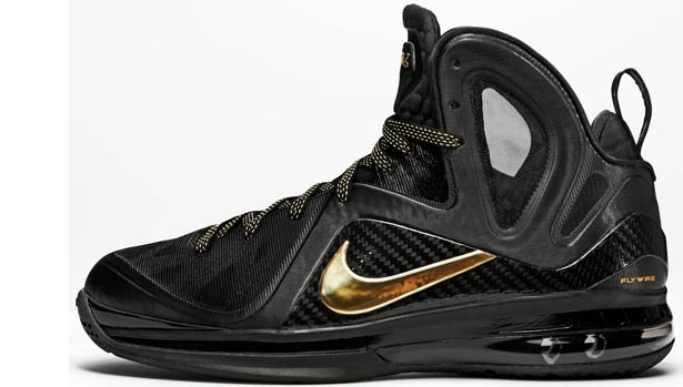 Nike LeBron 9 PS Elite Black/Metallic Gold