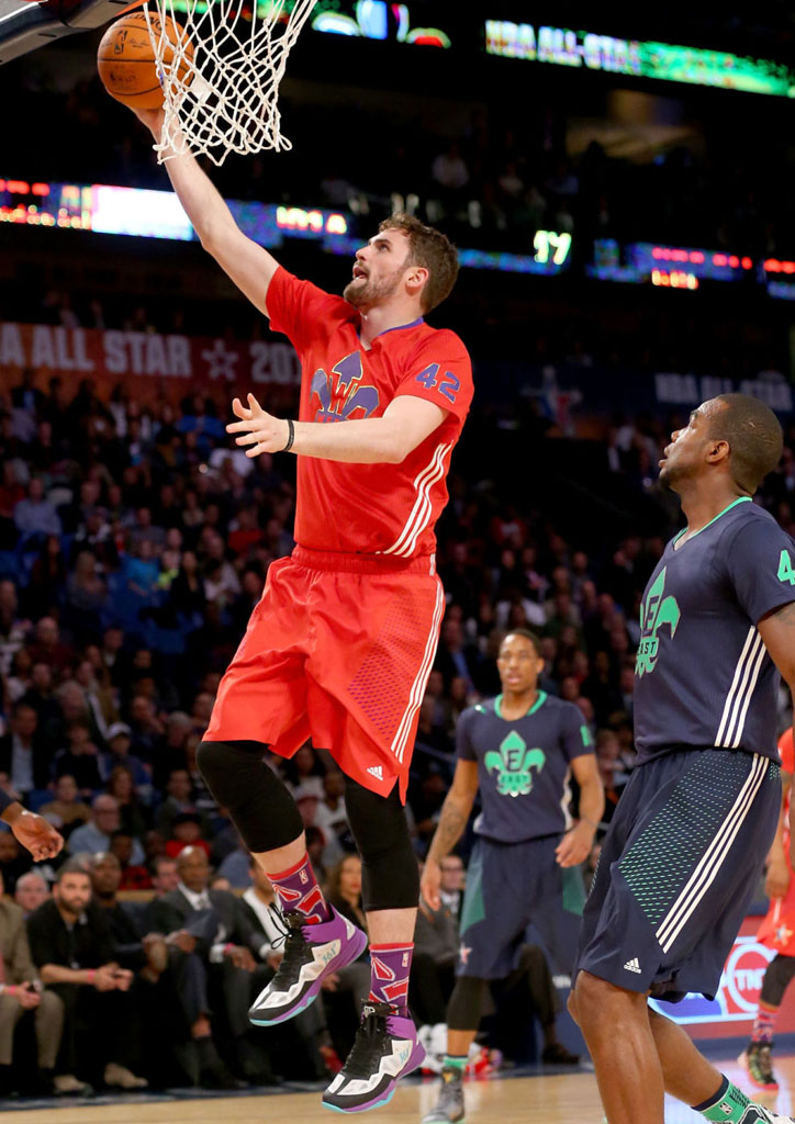 Kevin Love wearing 361 Love 3 All-Star