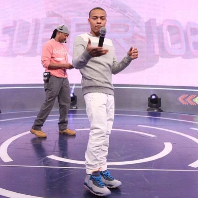 Bow Wow wearing Air Jordan 10 Bobcats
