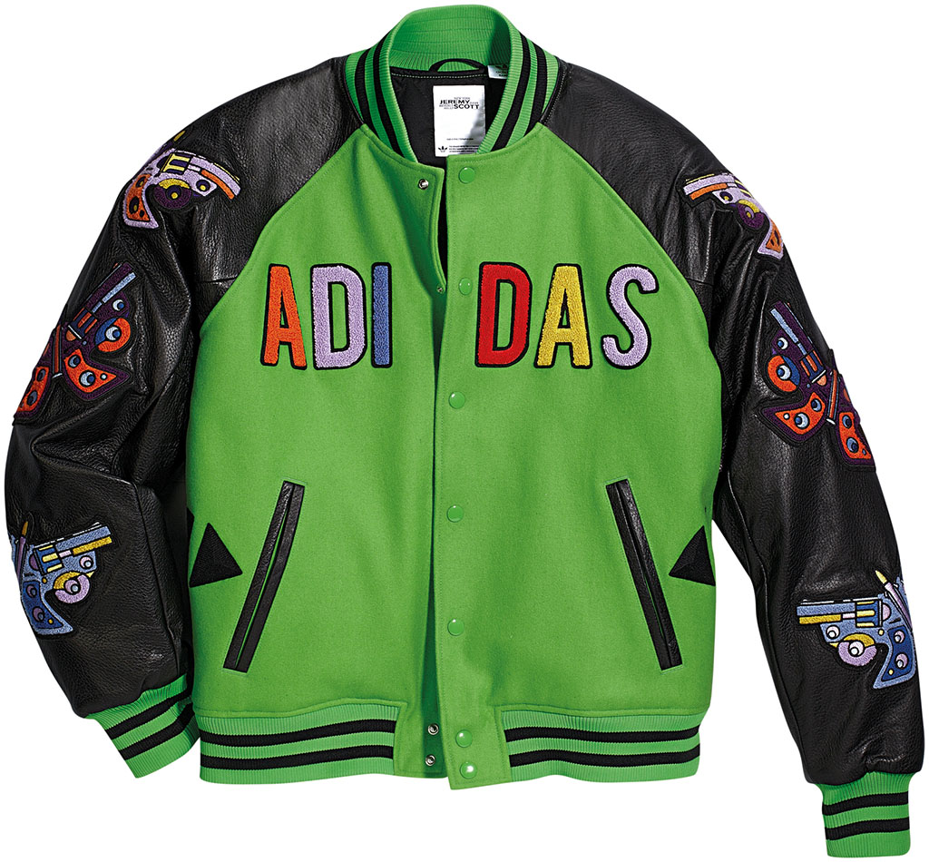 adidas Originals JS Varsity Jacket Black Green W61470 (1)