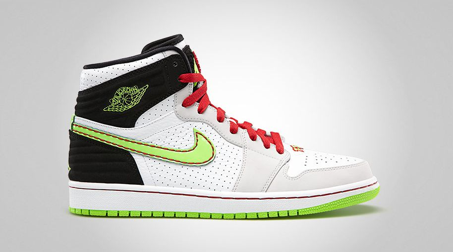 Air Jordan Retro I 1 '93 White Electric Green Black Neutral Grey True Red 580514-150 (1)