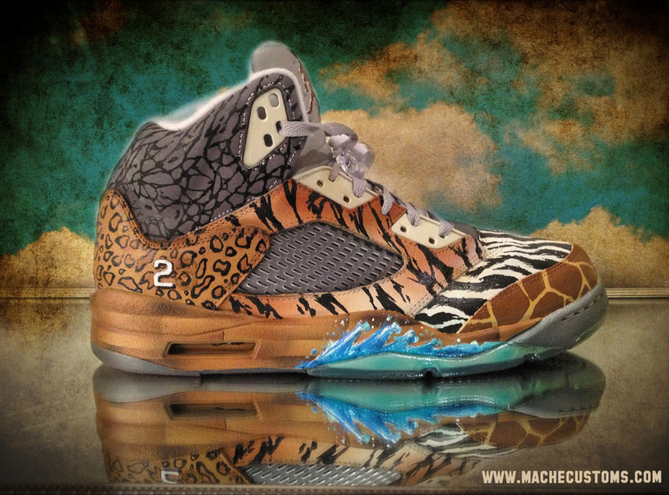 "Air Jordan V 5 Retro ""Noah's Ark"" by Mache Custom Kicks (5)"