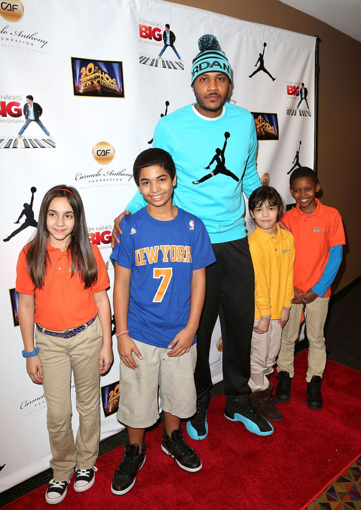 new arrival 23e6d b49ad ... new zealand carmelo anthony wearing air jordan 12 retro gamma blue 2  240e0 9c871