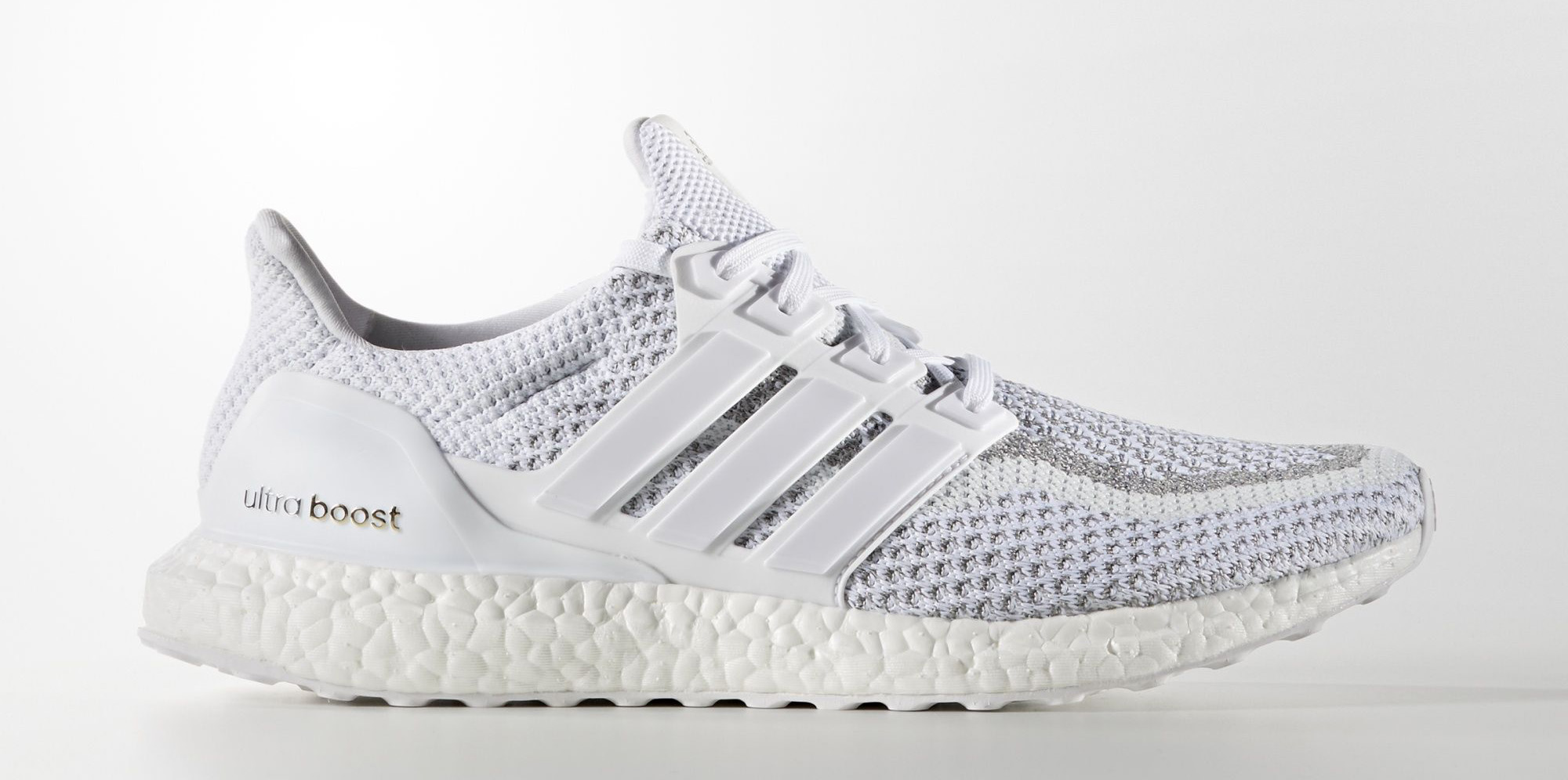 White Adidas Ultra Boost Reflective