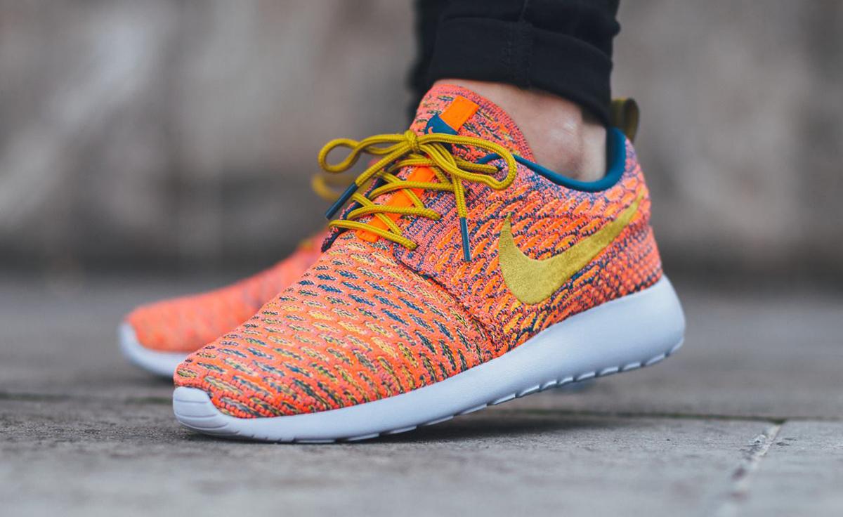 Nike Run Roshe Flyknit Des Femmes De Lorange