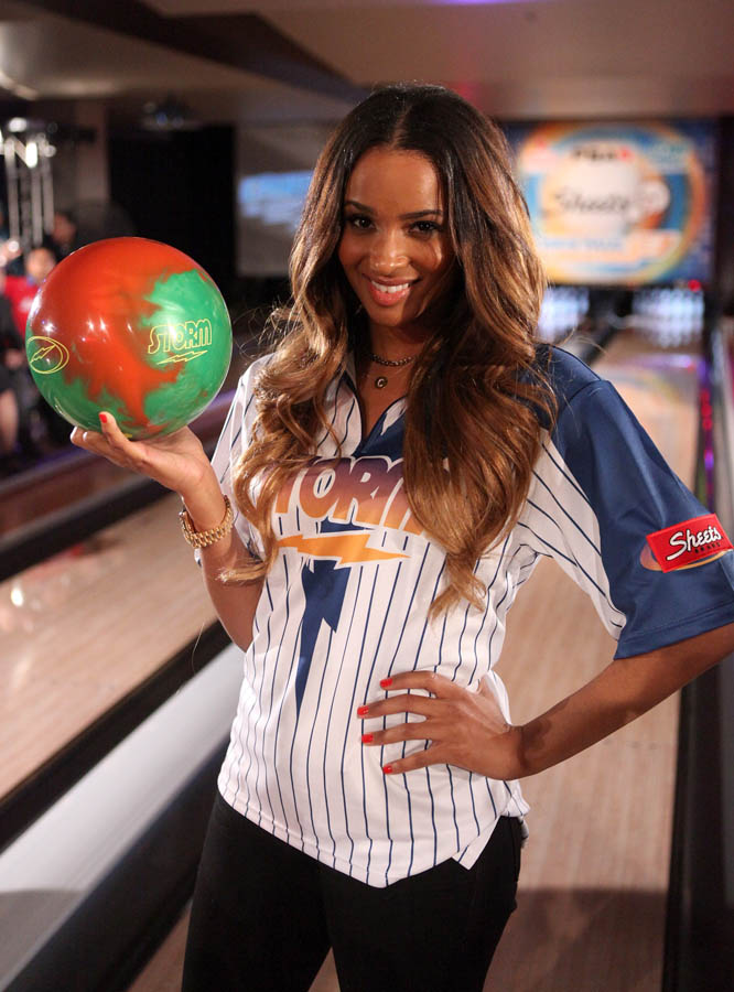 Chris Paul PBA Celebrity Bowling Tournament 2012 - Ciara