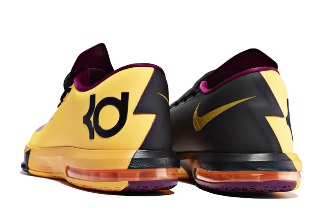 Nike KD VI 6 Peanut Butter and Jelly colorway heel detail