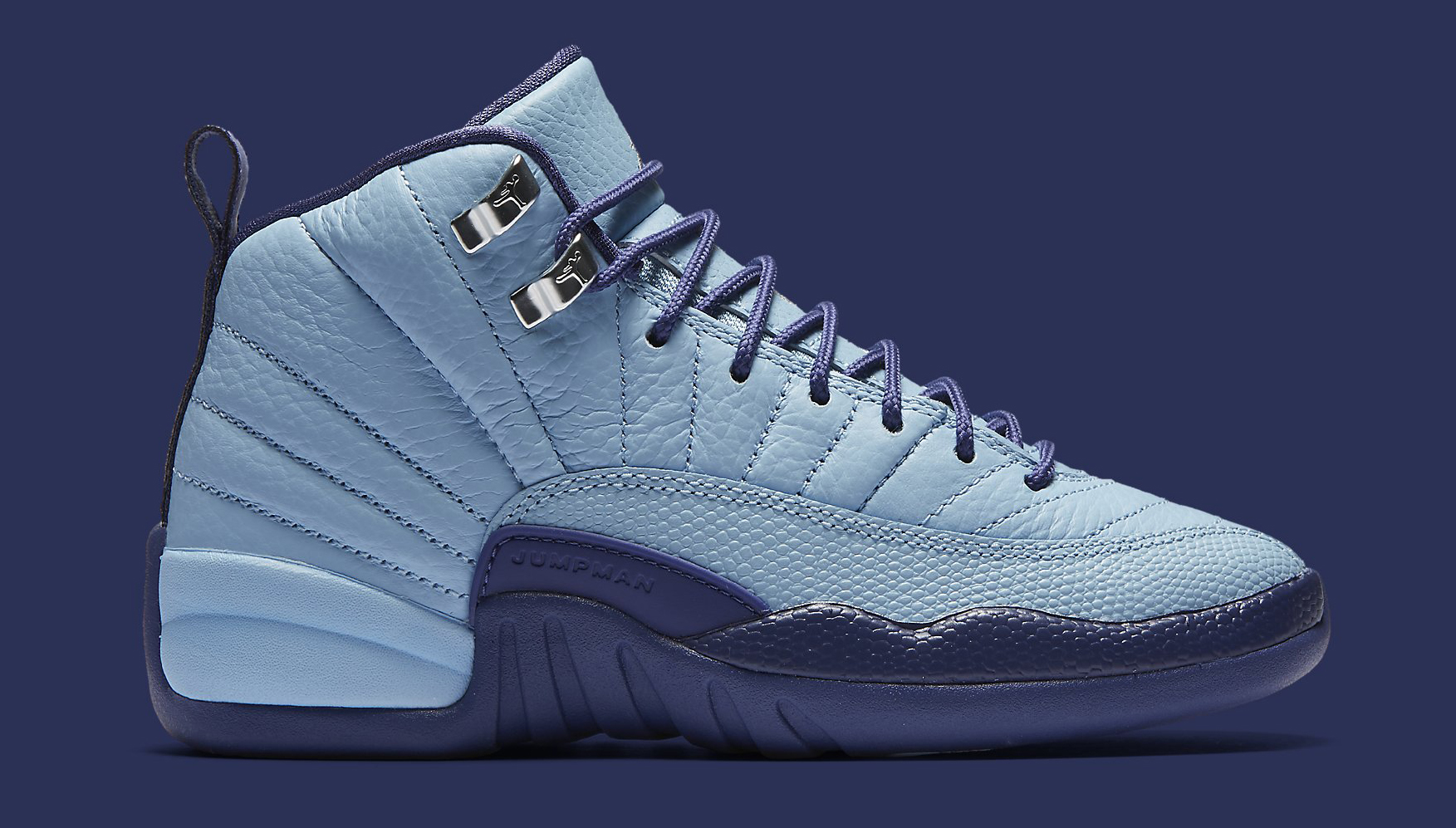 Air Jordan 12 GS 510815-418 Blue Cap Profile