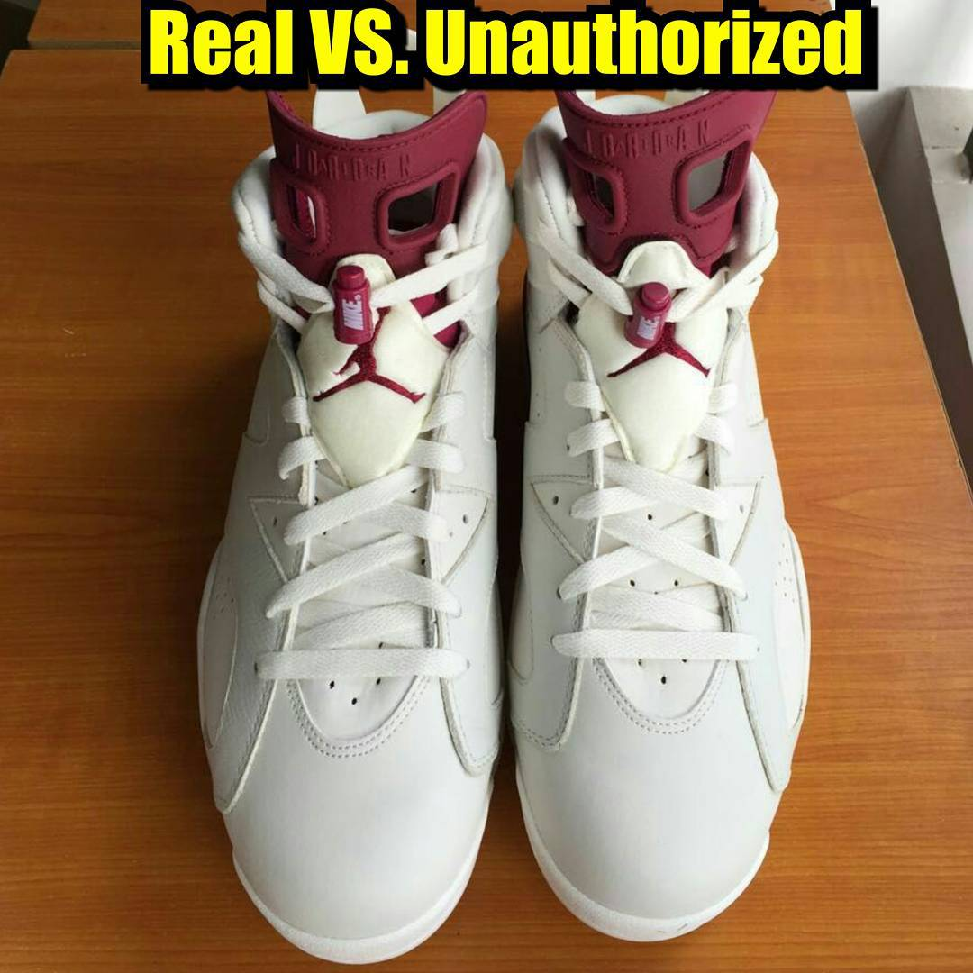 How To Tell If Your  Maroon  Air Jordan 6s Are Real or Fake  2fe6392ef