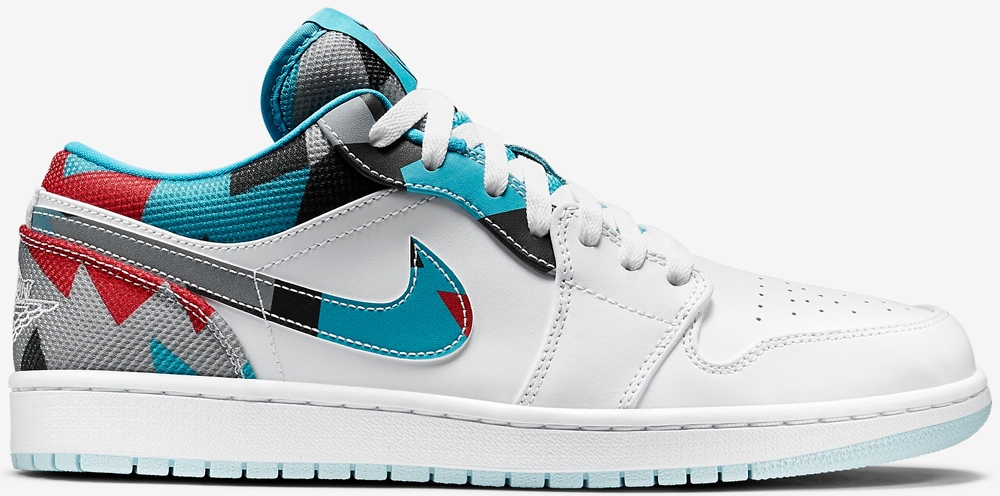 Air Jordan 1 Low N7 White/Dark Turquoise-Black-Ice Cube Blue