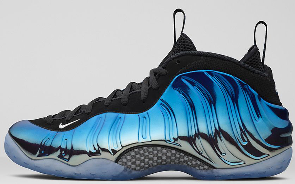 reputable site 3638d 89613 Nike Air Foamposite One Premium  Blue Mirror . Style Code  575420-008.  Colorway  Metallic Silver Black-Dark Neon Royal-White Release Date   12 31 2015
