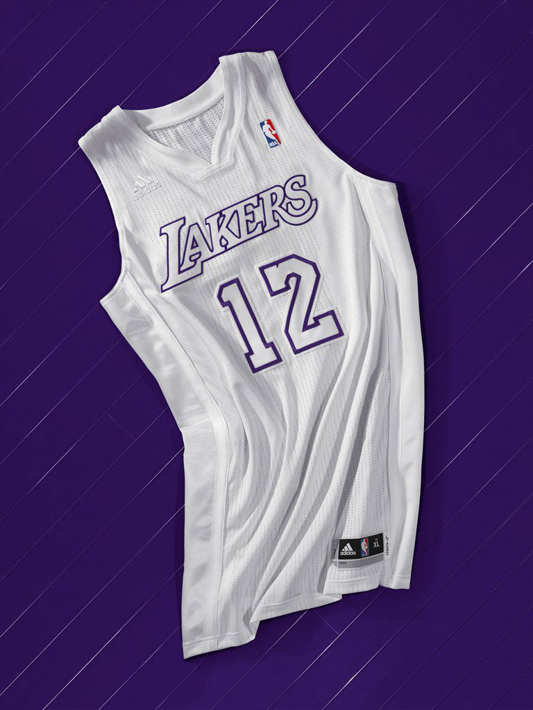 adidas BIG Color NBA Christmas Day Uniforms Los Angeles Lakers