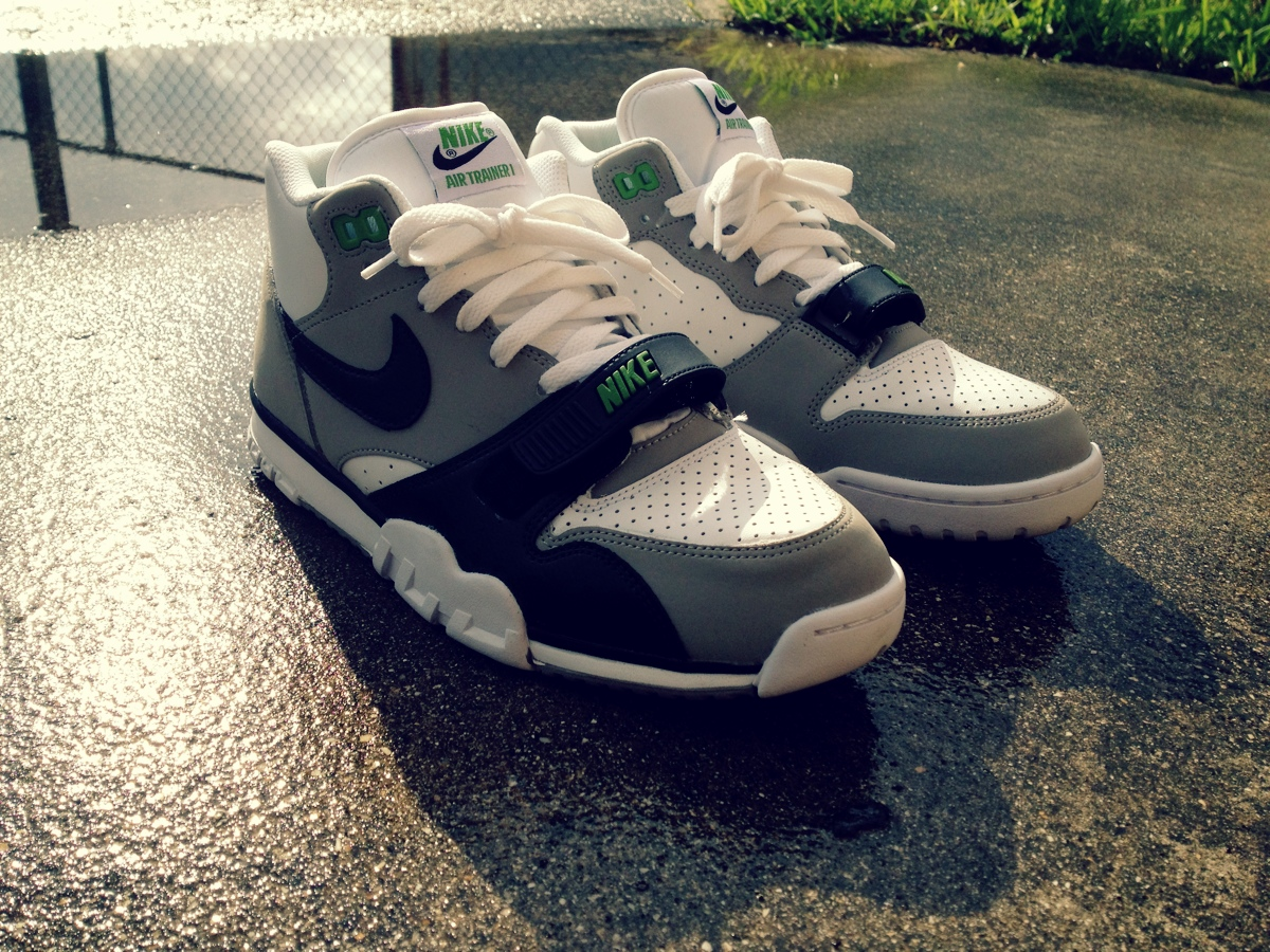 best sneakers af454 3ea82 ... coupon code for retro spotlight nike air trainer 1 chlorophyll e955a  08693