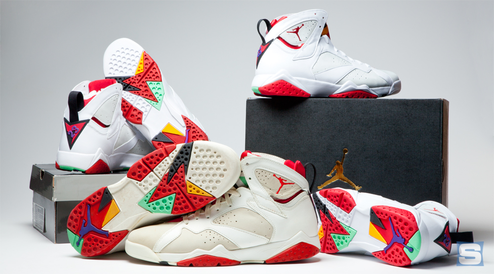 93879d59bd2 How Do the 2015 'Hare' Jordan 7s Compare to the Originals? | Sole ...