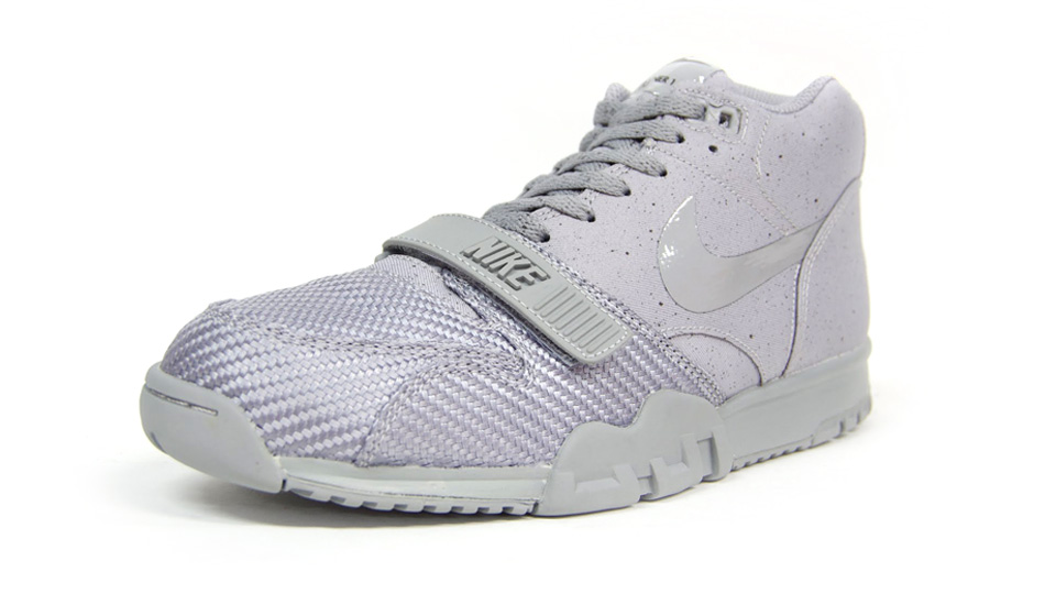 Nike Air Trainer 1 Mid SP Monotones pack in silver and midnight fog