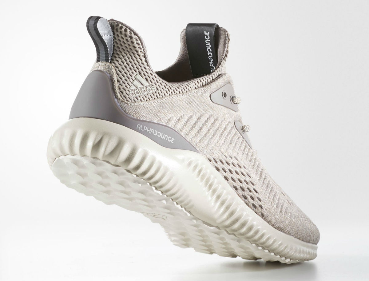 buy online fece7 53bea Adidas AlphaBounce EM Tech Earth Clear Brown Crystal White Lateral