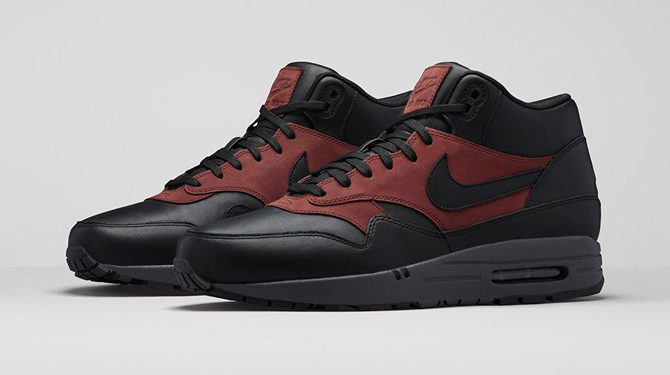 c553403566 The Nike Air Max 1 is still in winter mode with this deluxe mid-cut version.
