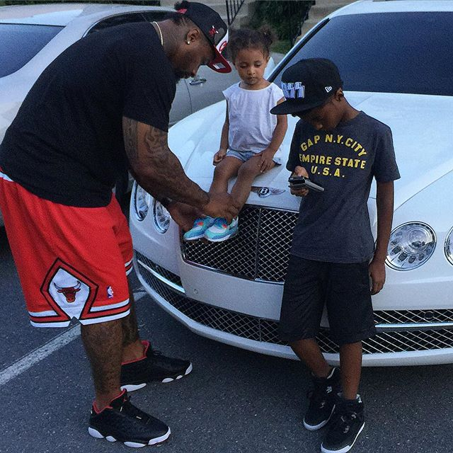 Celebrity wearing jordan retro 14 last shot