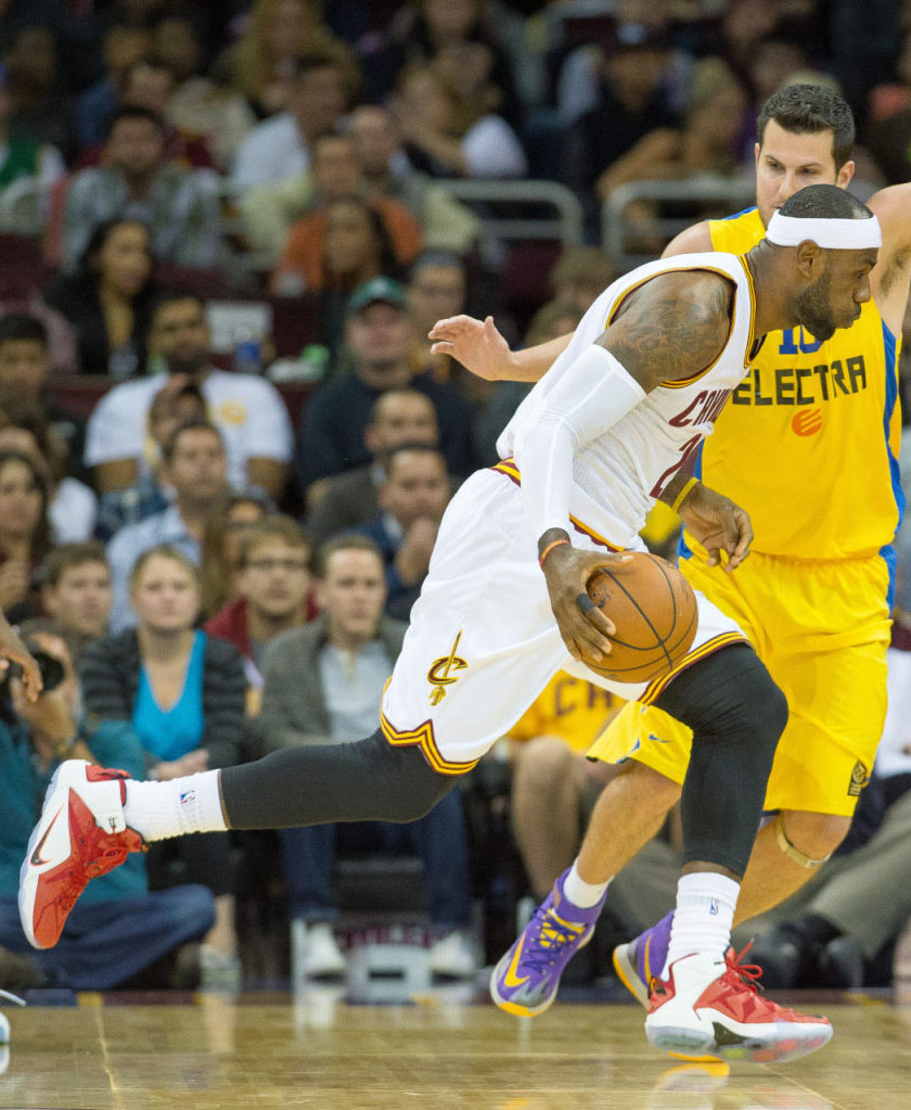 LeBron James wearing Nike LeBron XII 12 Heart of a Lion (2)