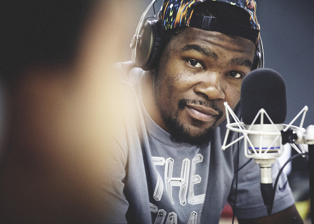 kevin durant visits milan radio station on nike european tour