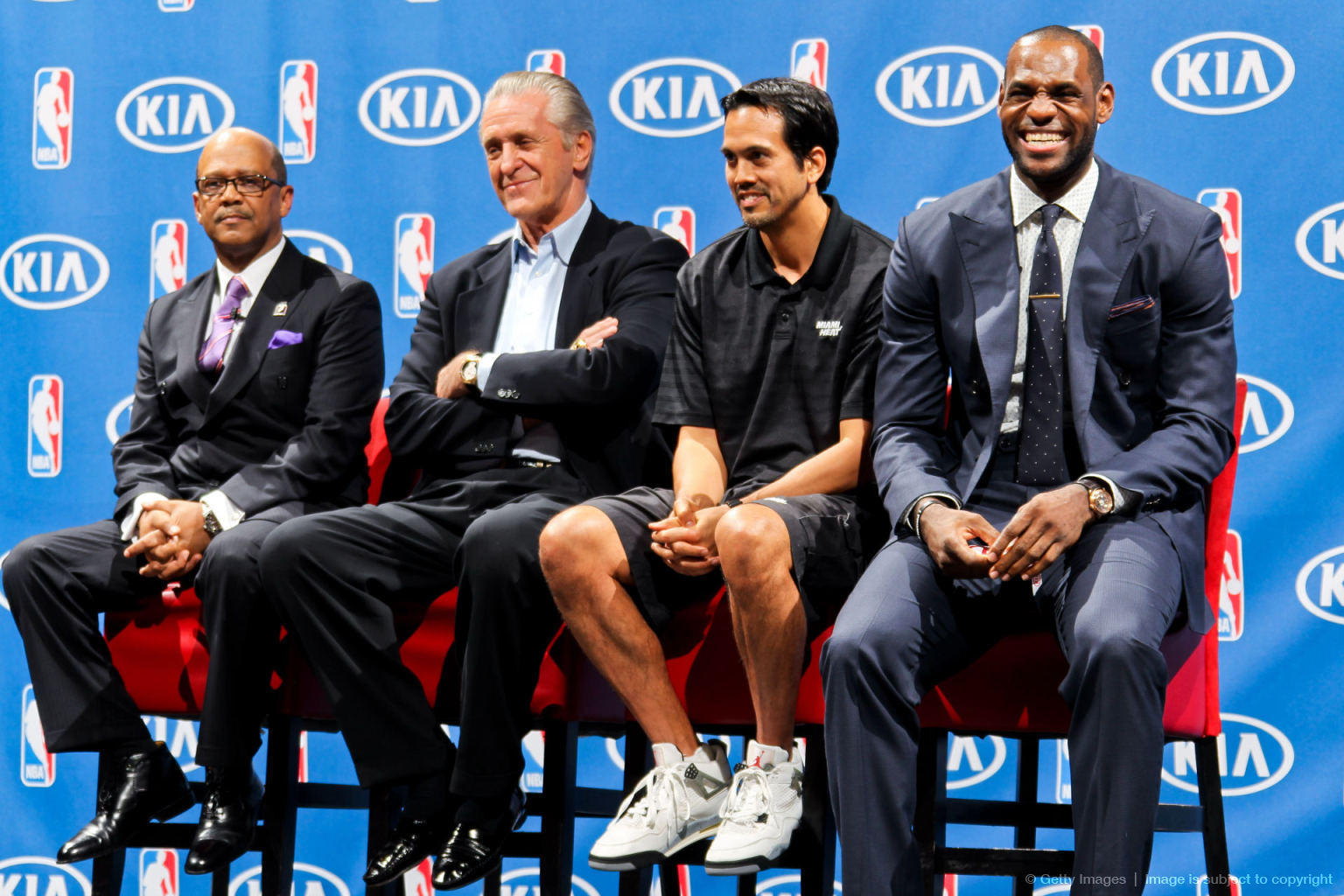 4de6a5f747bd0 Last Sunday s MVP Award ceremony crowning LeBron James saw Heat head coach  Erik Spoelstra lace up a questionable pair of White Cement Grey Jordan 4s.