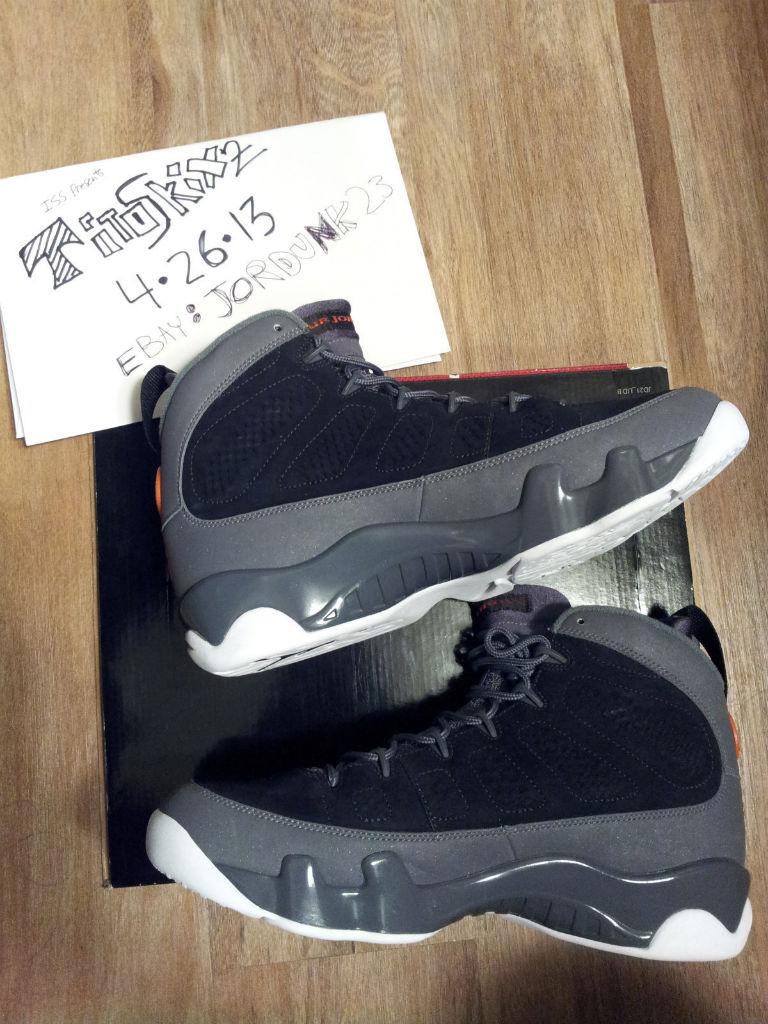 finest selection 9b08b a0256 Air Jordan IX 9 Black Mesa Orange Dark Grey Sample (4)