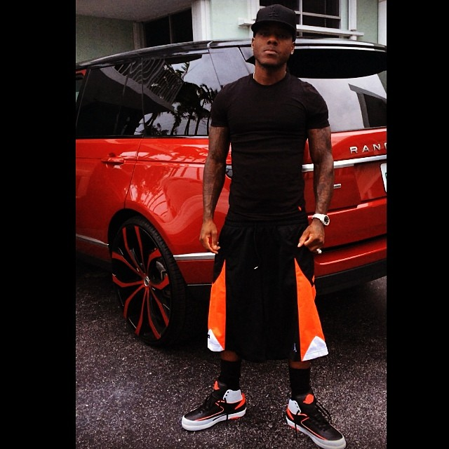 Ace Hood wearing Air Jordan II 2 Infrared 23