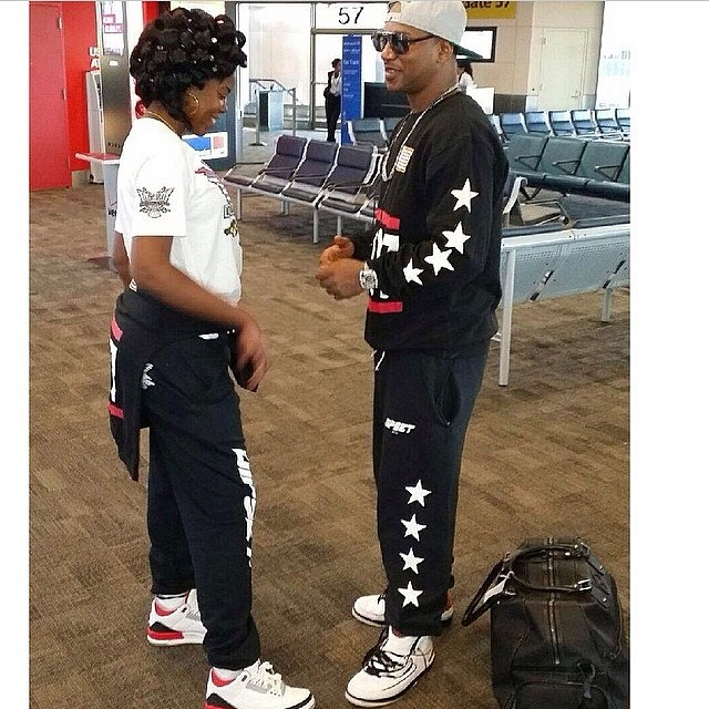 Cam'ron wearing Air Jordan II 2; JuJu wearing Air Jordan III 3 Fire Red