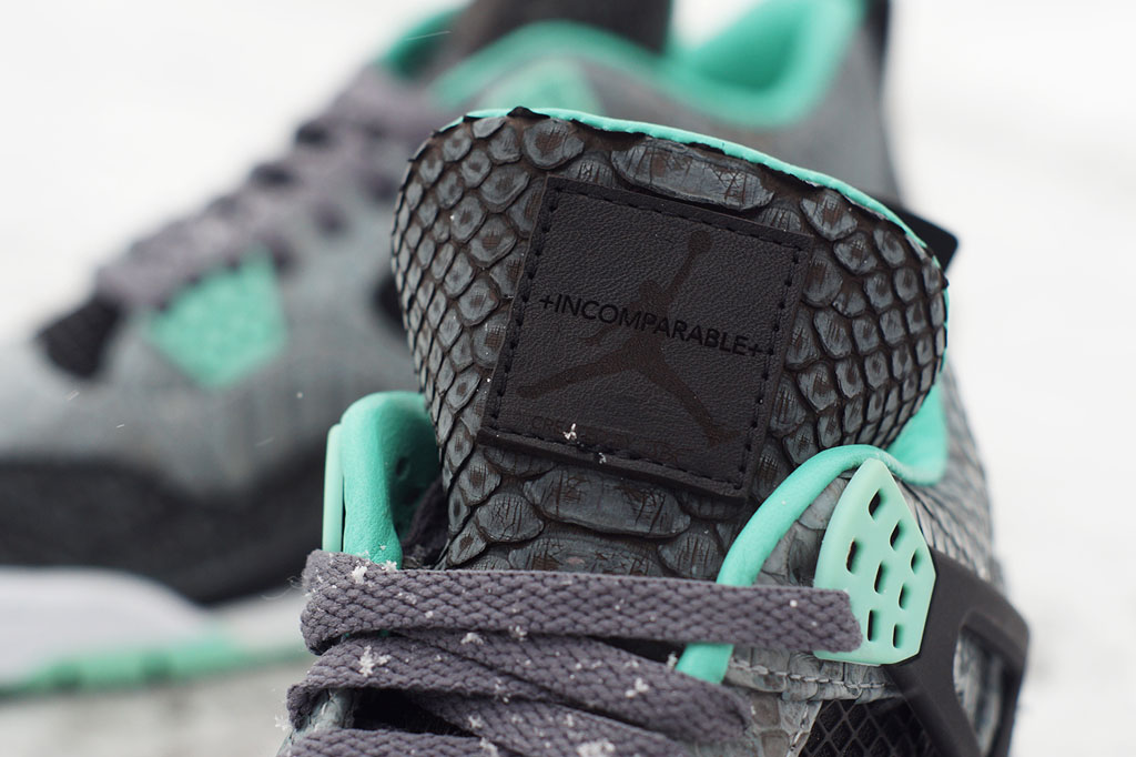 Air Jordan 4  Python Green Glow  by JBF Customs (5) 34db94e3e