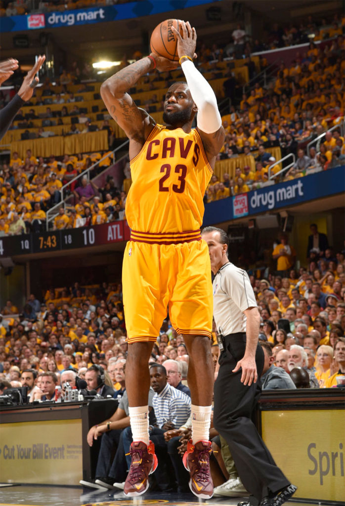 afa346c9c943 SoleWatch  LeBron James Wore Two Nike LeBron 12 PEs for Epic Triple ...