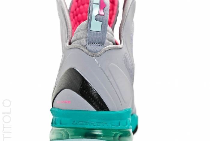 Nike LeBron 9 P.S. Elite South Beach Wolf Grey Mint Candy New Green Pink Flash 516958-001 (4)