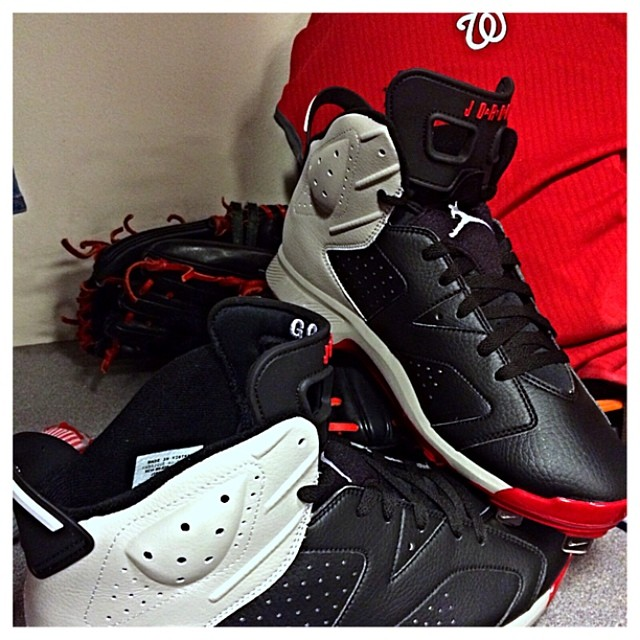 Gio Gonzalez Air Jordan VI 6 PE Cleats (1)